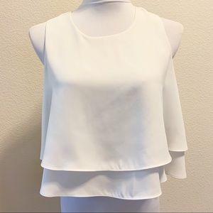 Zara | Cropped Tier Blouse